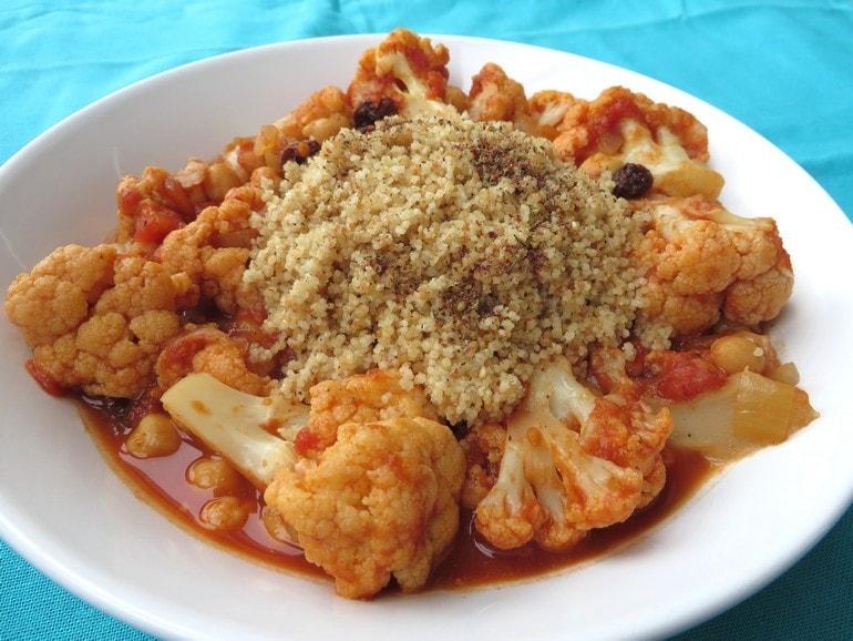 Marrokaans bloemkool stoofpotje, vegan