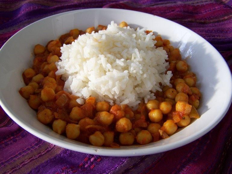chana massala, kikkererwten, Indiaas, vegetarisch, veganistisch, plantaardig