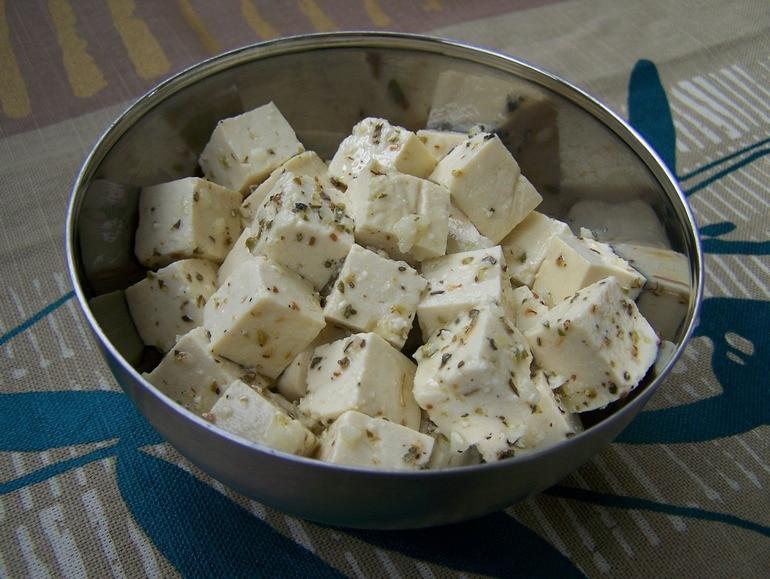 Tofu feta, vegetarisch, veganistisch, zonder melk, koolhydraatarm