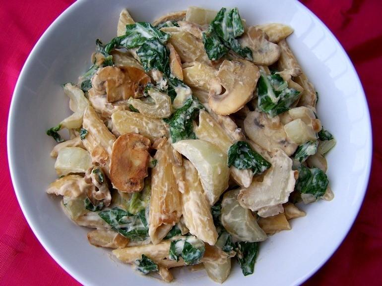 pasta met blauwe kaas