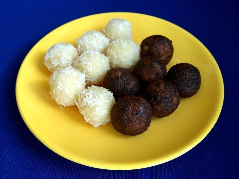 Marsepeintruffels, suikervrij, koolhydraatarm, veganistisch