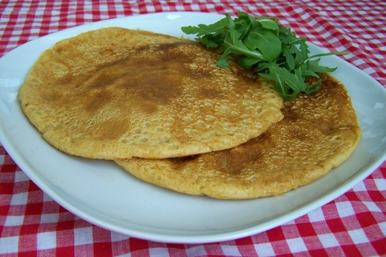 Veganistische omelet mix, zonder ei