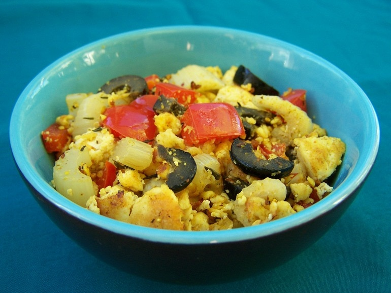 Tofu scramble, vegan
