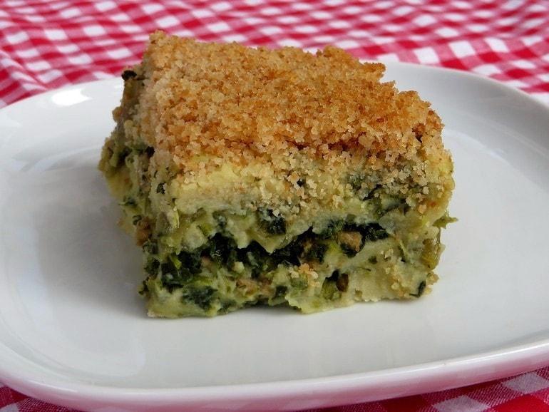 Ovenschotel met boerenkool en gehakt, vegan