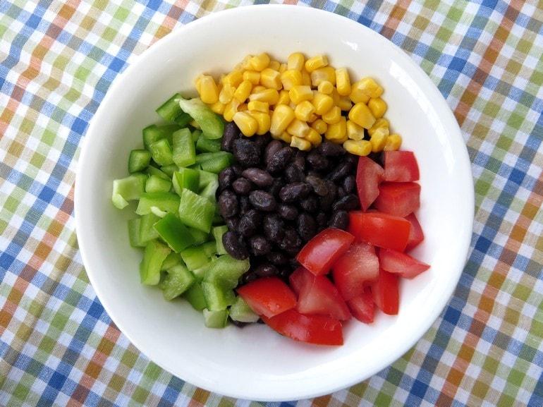 Chili salade, vegan
