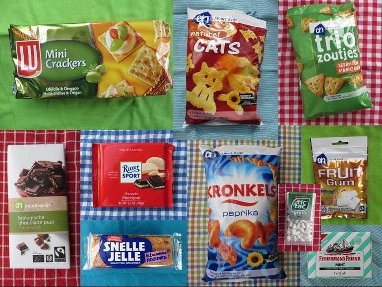Vegan koek, snoep en chips
