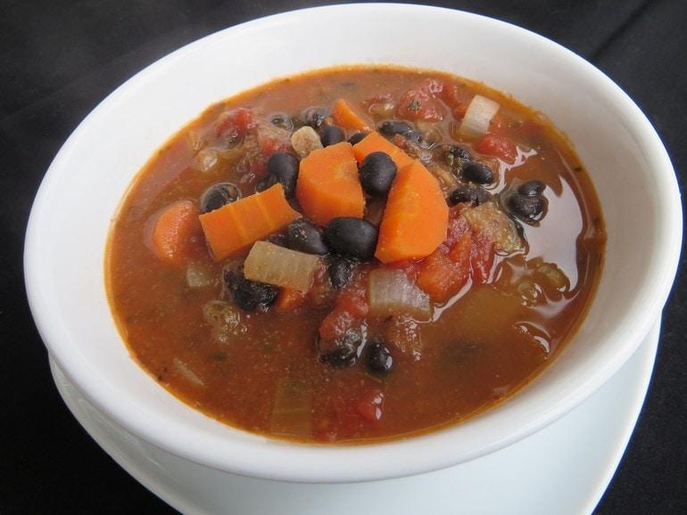 Mexicaanse zwarte bonensoep, vega