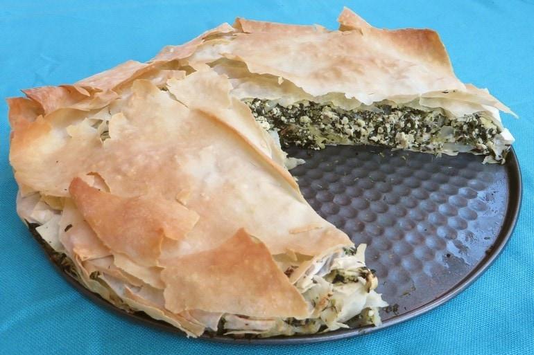 Spanakopita taart, vegan