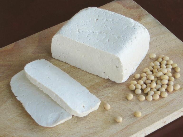 Zelfgemaakte tofu