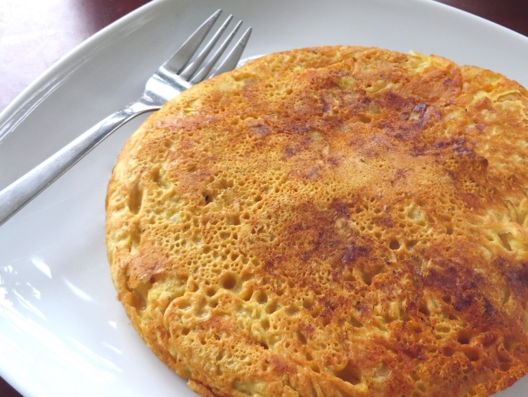 Spaanse tortilla van kikkererwtenmeel, vegan