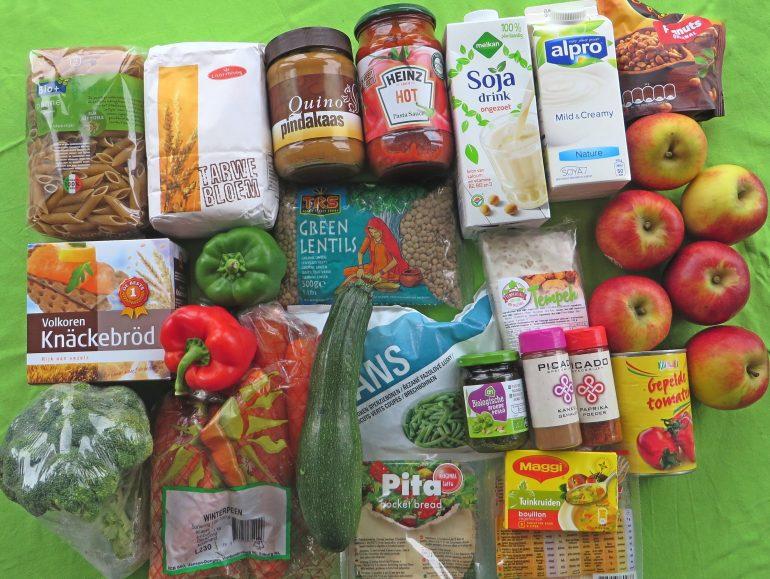 25 euro weekboodschappen, vegan
