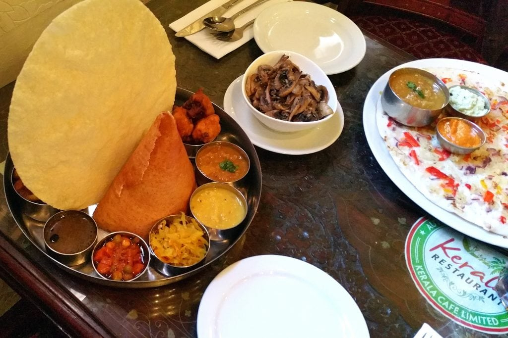 Indiase thali van Kerala, vegan