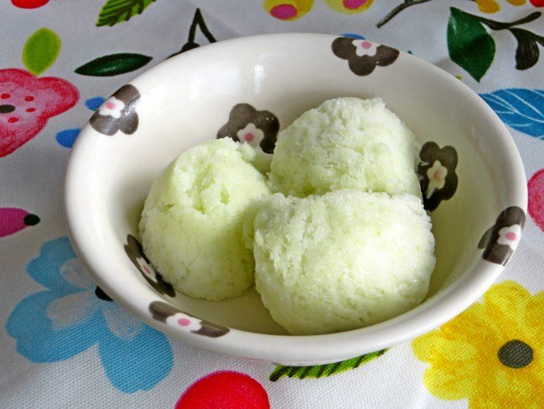 Aquafaba roomijs met meloen, vegan