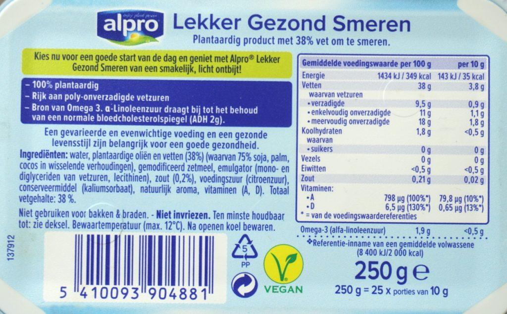 Alpro margarine, vegan