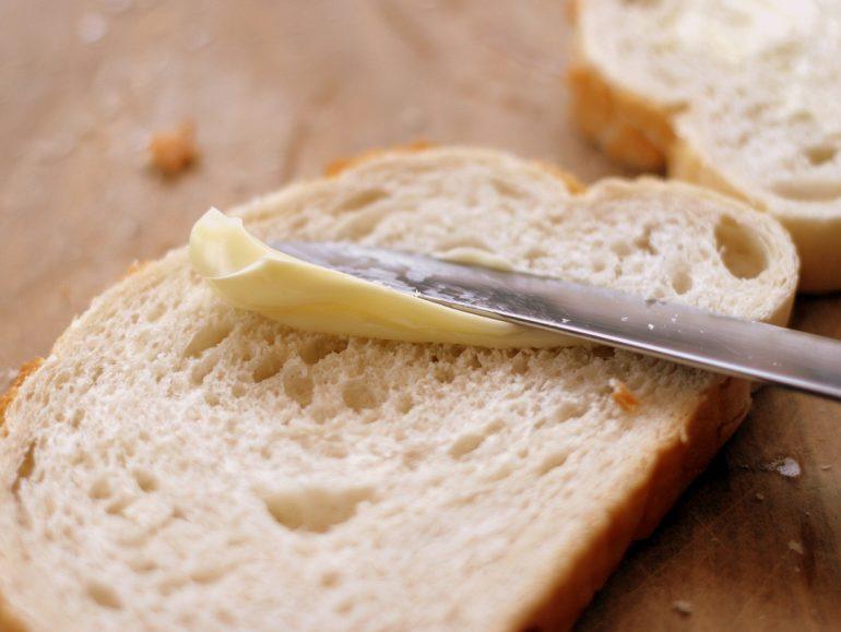 Margarine op brood