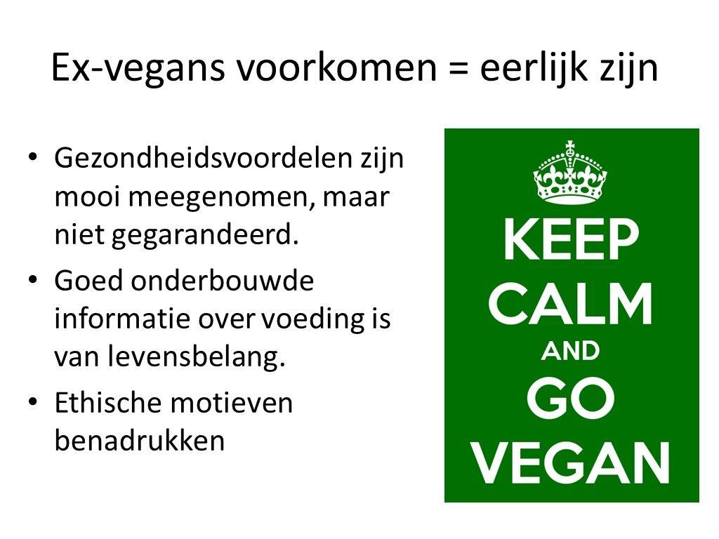 Ex-vegans voorkomen