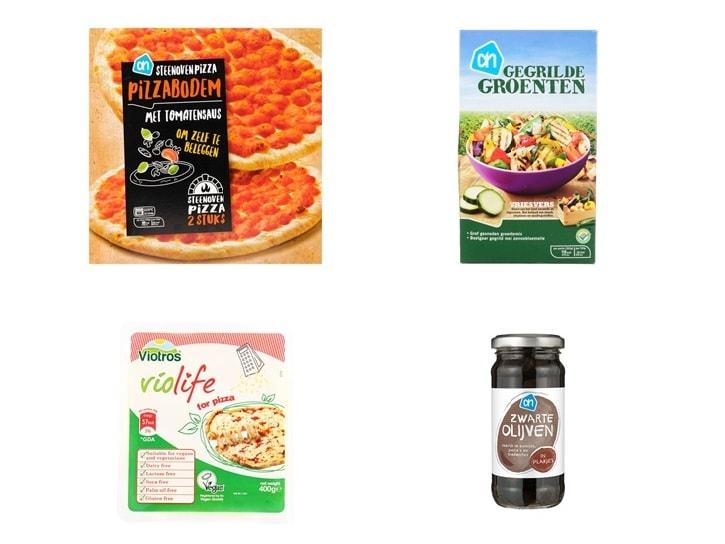 Diepvriespizza, vegan
