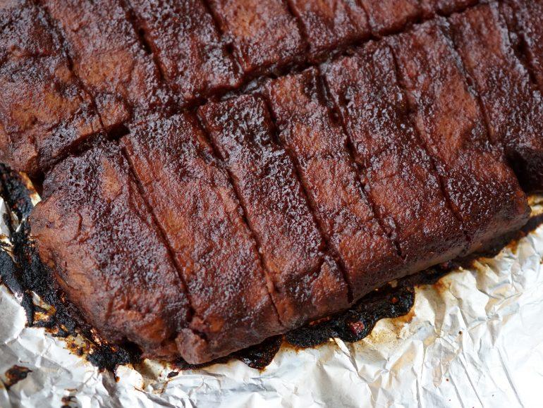 Seitan spare ribs, vegan