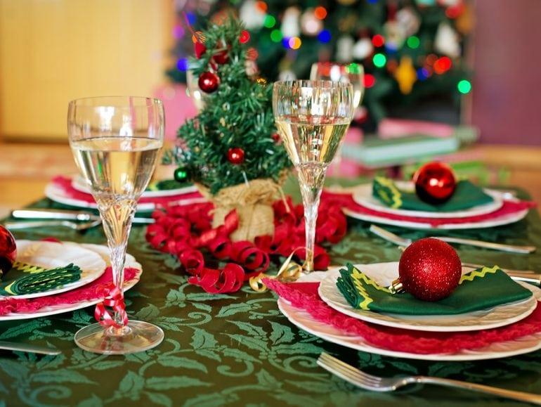 Kersttafel, vegan gourmetten
