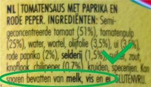 Sporen van melk vegan