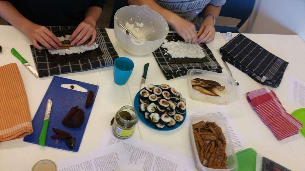 Vegan sushi workshop
