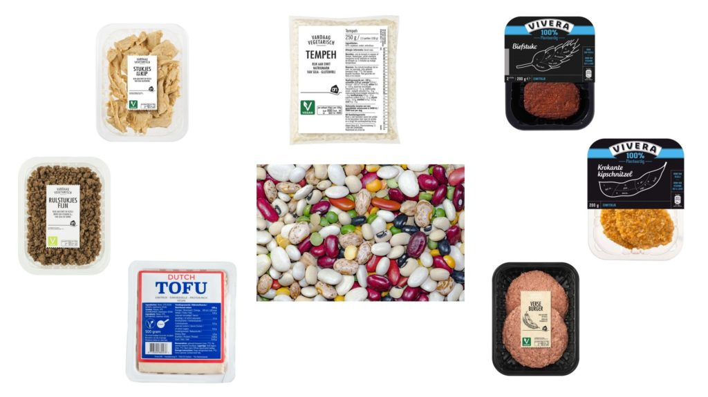 Gezonde producten vleesvervangers eiwitbronnen vegan