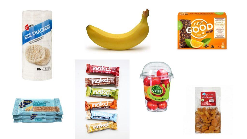 Gezonde producten snacks tussendoortjes vegan