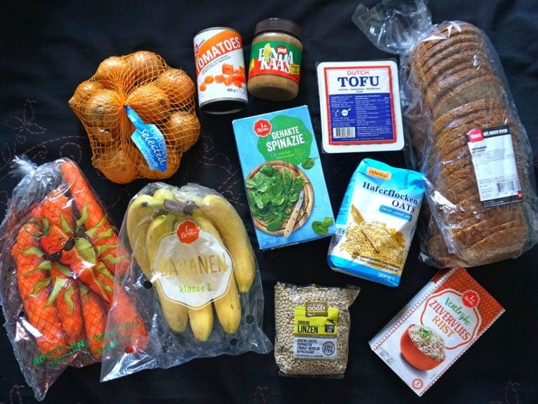 Vegan met 10-15 euro per week