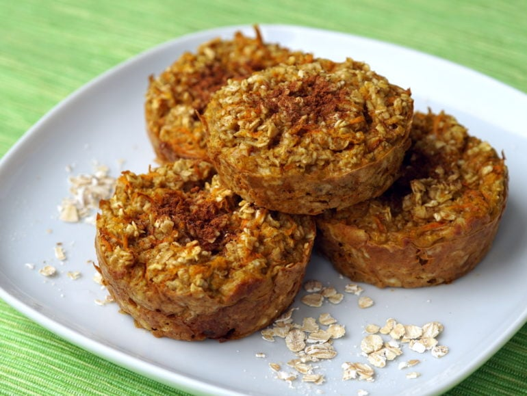 Carrot cake havermout muffins