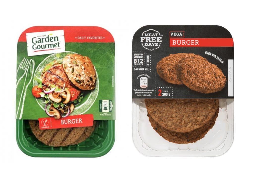 Vleesvervangers burgers vegan