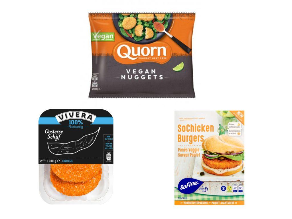 Vleesvervangers schnitzel en nuggets vegan