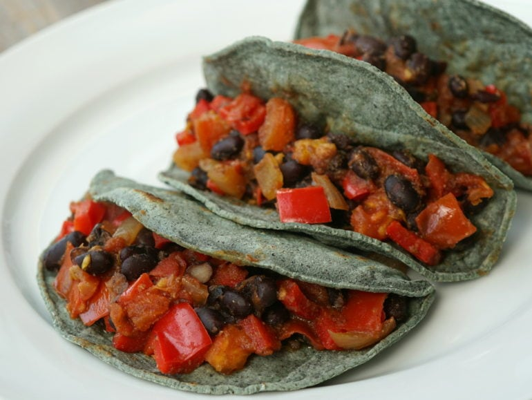 Supersnelle mexicaanse taco's, vegan