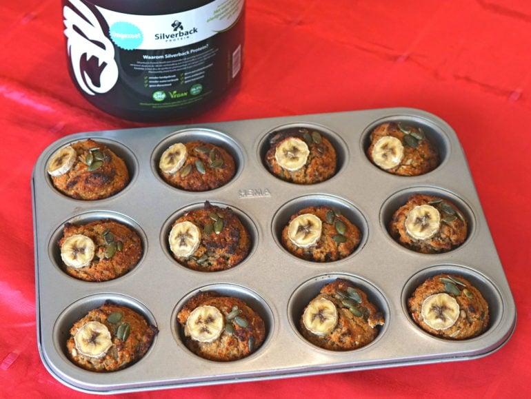 Vegan proteïnemuffins eiwitrijk sport Silverback